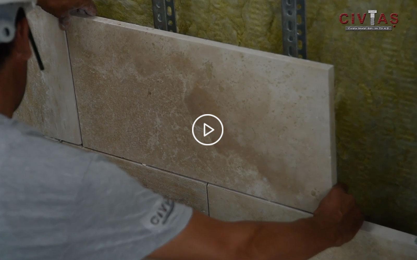 Profilli Doğaltaş Bağlantı Sistemleri. Profile Mechanical Fixing for Natural Stone Installation