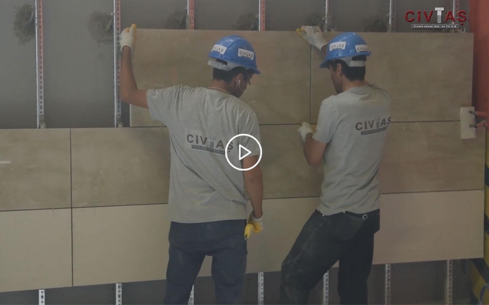 Tuğla ve Beton Harçlı Bağlantı Sistemleri Uygulama Videosu. Fixing Systems for Masonary Walls.
